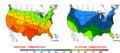 2015-10-15 Color Max-min Temperature Map NOAA.png