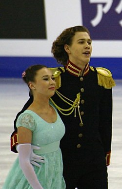 2015 ISU Junior Grand Prix Final Alla Loboda Pavel Drozd IMG 6990.JPG