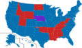 2016 US presidential election polling map gender gap Clinton.png