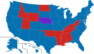 Nationwide opinion polling for the United States presidential election by demographics, 2016 - Image: 2016 US presidential election polling map gender gap Clinton