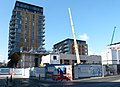 2016 Woolwich, construction Crossrail station - 1.jpg