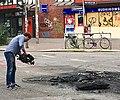 2017-07-08 Brandreste Schanzenstraße Ecke Kampstraße gefilmt.jpg