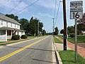 2017-08-21 10 55 35 View north along Maryland State Route 16 (Main Street) at Maryland State Route 14 (Railroad Avenue) in East New Market, Dorchester County, Maryland.jpg