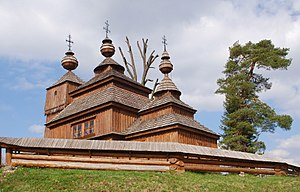 2017 Bodružal, cerkiew św. Mikołaja, widok ze strony południowej