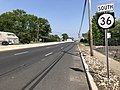 2018-05-25 15 27 04 View south along New Jersey State Route 36 at Laurel Avenue in Hazlet Township, Monmouth County, New Jersey.jpg