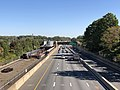 2018-10-23 12 15 37 View east along the eastbound lanes of Interstate 66 and the Orange Line of the Washington Metro from the overpass for Vaden Drive (Virginia State Route 6731) in Oakton, Fairfax County, Virginia.jpg