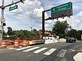 2019-08-19 15 05 21 On-ramp from U.S. Route 29 northbound (Lee Highway-North Lynn Street) to Interstate 66 eastbound (Roosevelt Bridge) in Rosslyn, Arlington County, Virginia.jpg