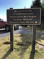 2019-10-27 12 13 47 Sign for Spruce Knob at the north end of National Forest Road 104 and the Whispering Spruce Trail in the Spruce Knob-Seneca Rocks National Recreation Area in Pendleton County, West Virginia.jpg