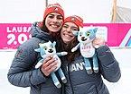 2020-01-18 Mascot Ceremony Luge Women's Double (2020 Winter Youth Olympics) by Sandro Halank–082.jpg