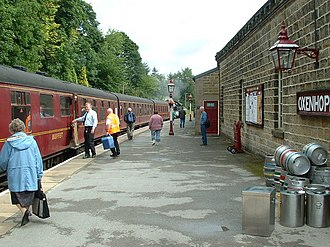 Oxenhope - Oxenhope railway station platform, 2006