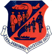 2439th Personnel Processing Group - Parks AFB - California - 1950s