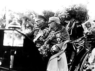 Ferdinand I of Bulgaria - Emperor Wilhelm and Tsar Ferdinand in Sofia, 1916