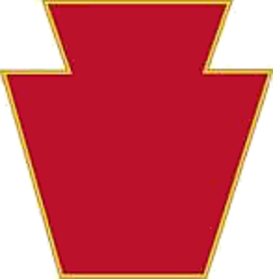 28th Infantry Division (United States) - The 28th Infantry Division's combat service identification badge