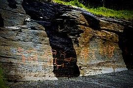 37663 Skavberget 3. Rock carvings at Tromsø.