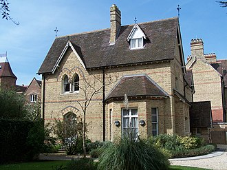 North Oxford - 37 Banbury Road, St Anne's College, a typical North Oxford Gothic house.
