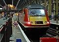 43312 London Kings Cross to Newcastle 1N35 at Kings Cross platform 6 (34699040601).jpg