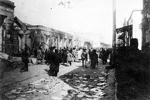 March Days - Bazarnaya Street (modern day Azerbaijan Avenue) during the March days in 1918.