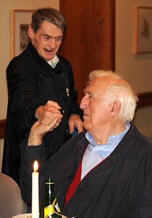 Jean Vanier - Jean Vanier with John Smeltzer, a member of L'Arche Daybreak, 2009