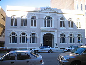 Perth Trades Hall - Former Perth Trades Hall building, renamed Delaney Gallery in 1985