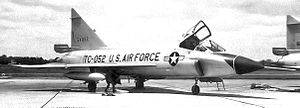 86th Fighter-Interceptor Squadron - Convair TF-102A Delta Dagger, AF Ser. No. 55-4052, of the 86th Fighter-Interceptor Squadron