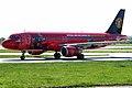9M-AFC A320-214 Air Asia 2 (MUFC logojet left side) MAN 05APR06 (5822404586).jpg