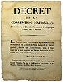 9 Thermidor - décret de la Convention nationale - mise hors de la loi des robespierristes.jpg