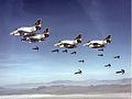 A-4M Skyhawks of VMA-331 drop bombs 1978.jpg