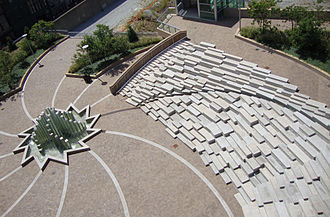 Athena Tacha - Athena Tacha, Dancing Steps amphitheater and Star Fountain (aerial view), Muhammad Ali Plaza, Louisville, KY