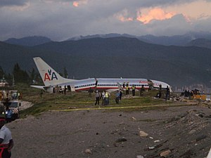 American Airlines Flight 331 - A view of the accident site