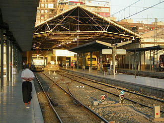 Alicante railway station - Alicante Terminal in 2005