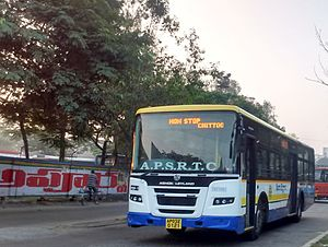 Chittoor, Andhra Pradesh - APS RTC bus on Chittoor Roads