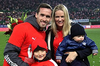 Christian Fuchs - Fuchs, his wife, and their children, October 2015