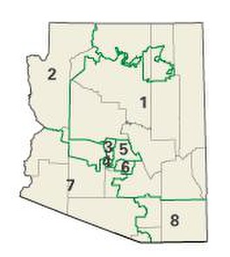 United States House of Representatives elections, 2004 - Arizona congressional districts in the 2004 elections