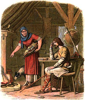 Alfred the Great - A Victorian portrayal of the 12th-century legend of Alfred burning the cakes