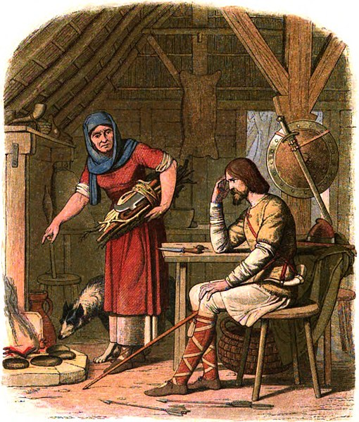 File:A Chronicle of England - Page 050 - Alfred in the Neatherd's Cottage.jpg