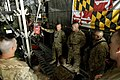 A U.S. Airman with the 455th Expeditionary Aeromedical Evacuation Squadron teaches Army medics how to load onto a C-130 Hercules aircraft at Bagram Airfield, Afghanistan, Aug. 22, 2013 130822-F-IW762-002.jpg