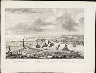 Cape Breton Island - A View of Louisburg in North America, November 11, 1762