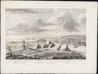 Cape Breton Island - A View of Louisburg in North America, November 11, 1762