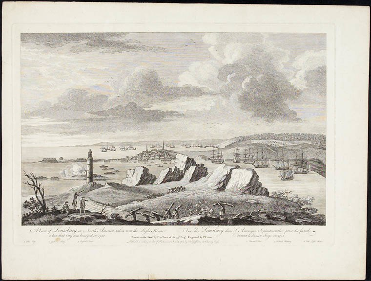 A View of Louisburg in North America
