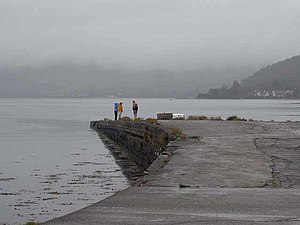 English: A dreich day Bonawe jetty on Loch Etive.