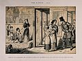 A drunken man begs in the street with his family, all ruined Wellcome V0019404.jpg