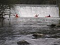 A group of kayakers at the bottom of the weir - geograph.org.uk - 225553.jpg