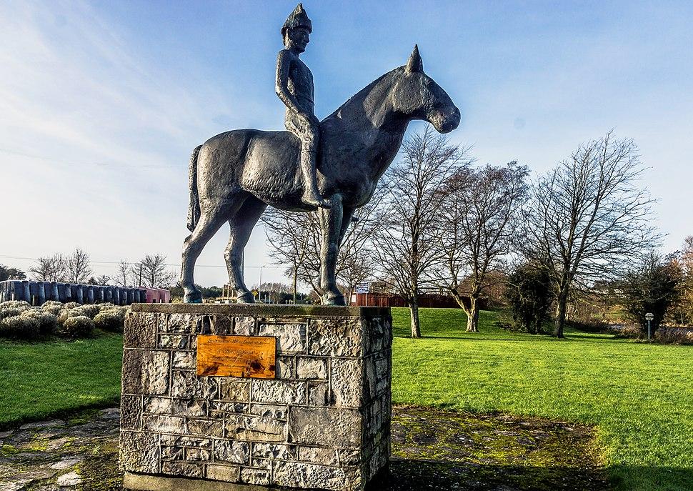 A sculpture of Máel Seachnaill II in Trim, Co. Meath, by James McKenna