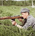 A young Estonian volunteer with a SVT-40, Finland 1944 (31872676647).jpg