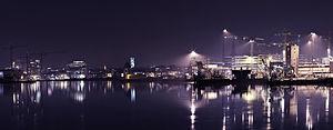 Aarhus docklands by night