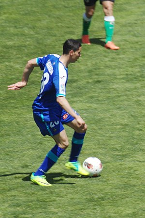 Abdelaziz Barrada - Barrada playing for Getafe in 2012