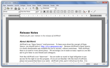 AbiWord 2.8.6 unter Windows 7