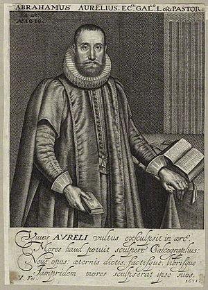 Abraham Aurelius - Abraham Aurelius, 1631 engraving by Robert van Voerst.