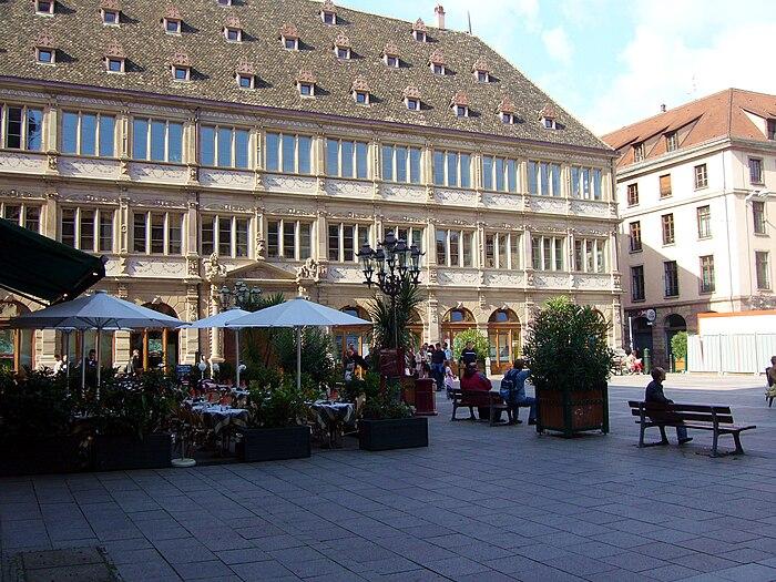 Ancien h tel de ville dit neue bau actuellement h tel de for Chambre de commerce strasbourg