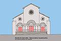 Abteikirche St-Gilles Rekonstruktion Fassade.JPG